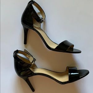 Michael Kors Black Patent Leather Ankle Heels 9
